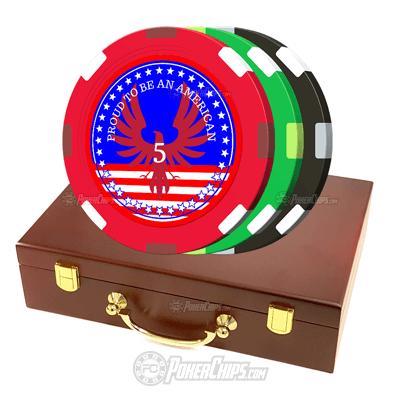 Patriotic Custom Poker Chips Set