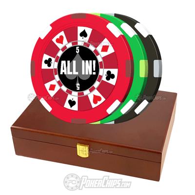 Ring of Suits Custom Poker Chips Set