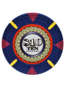 $10 Blue - The Mint Clay Poker Chips