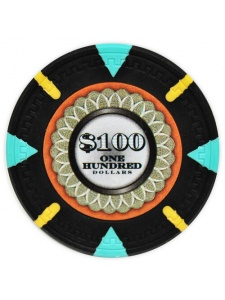 $100 Black - The Mint Clay Poker Chips