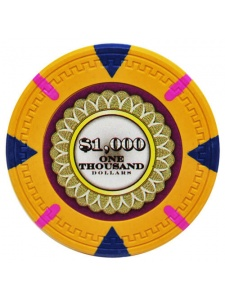 $1000 Orange - The Mint Clay Poker Chips