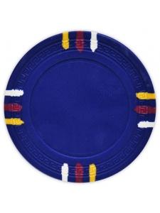 Blue - 12 Stripe Clay Poker Chips