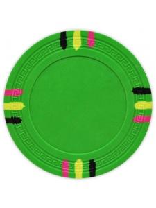 Green - 12 Stripe Clay Poker Chips