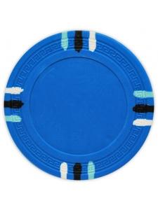 Light Blue - 12 Stripe Clay Poker Chips