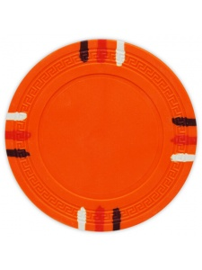 Orange - 12 Stripe Clay Poker Chips