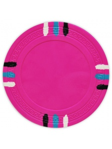 Pink - 12 Stripe Clay Poker Chips