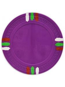 Purple - 12 Stripe Clay Poker Chips