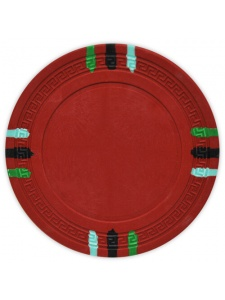 Red - 12 Stripe Clay Poker Chips