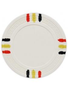 White - 12 Stripe Clay Poker Chips