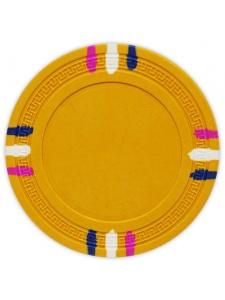 Yellow - 12 Stripe Clay Poker Chips