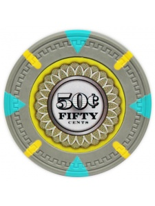 50¢ Gray - The Mint Clay Poker Chips