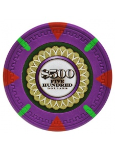 $500 Purple - The Mint Clay Poker Chips