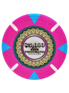 $5000 Pink - The Mint Clay Poker Chips