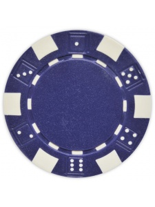 Blue - Striped Dice Clay Poker Chips