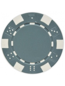 Gray - Striped Dice Clay Poker Chips