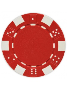 Red - Striped Dice Clay Poker Chips