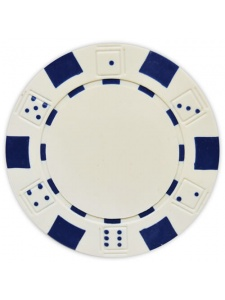White - Striped Dice Clay Poker Chips