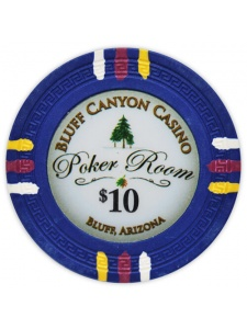 $10 Blue - Bluff Canyon Clay Poker Chips