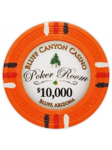 $10000 Orange - Bluff Canyon Clay Poker Chips