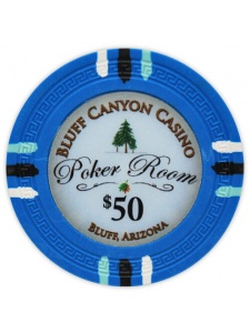 $50 Light Blue - Bluff Canyon Clay Poker Chips