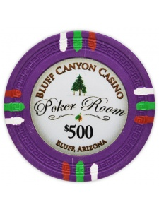 $500 Purple - Bluff Canyon Clay Poker Chips