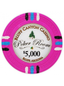 $5000 Pink - Bluff Canyon Clay Poker Chips