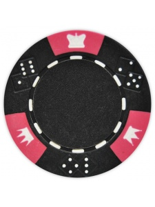 Black - Crown & Dice Clay Poker Chips