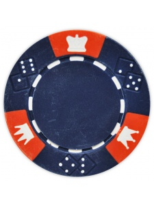 Blue - Crown & Dice Clay Poker Chips
