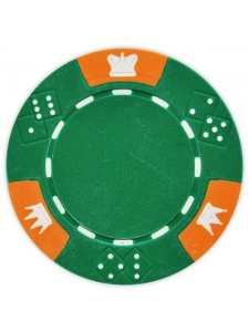 Green - Crown & Dice Clay Poker Chips