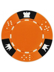 Orange - Crown & Dice Clay Poker Chips