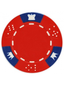 Red - Crown & Dice Clay Poker Chips
