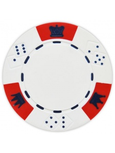 White - Crown & Dice Clay Poker Chips