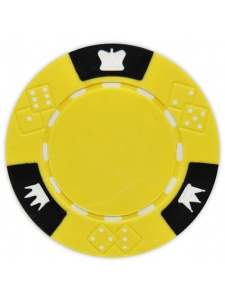 Yellow - Crown & Dice Clay Poker Chips