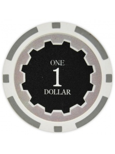 $1 Gray - Eclipse Clay Poker Chips