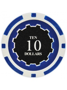 $10 Blue - Eclipse Clay Poker Chips