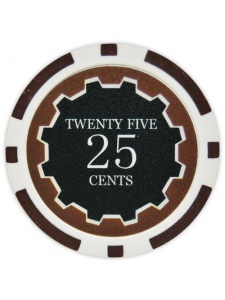 25¢ Brown - Eclipse Clay Poker Chips