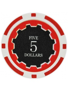 $5 Red - Eclipse Clay Poker Chips