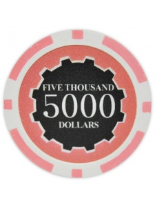 $5000 Pink - Eclipse Clay Poker Chips