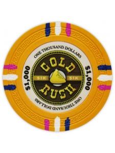 $1000 Yellow - Gold Rush Clay Poker Chips