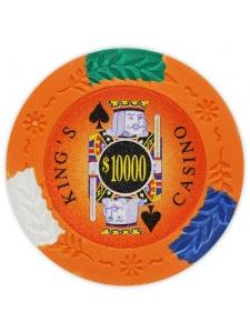 $10000 Orange - King's Casino Clay Poker Chips