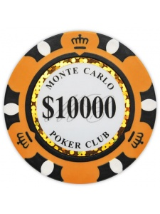 $10000 Orange - Monte Carlo Clay Poker Chips