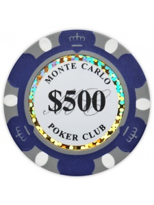 $500 Dark Blue - Monte Carlo Clay Poker Chips
