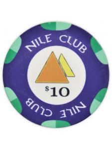 $10 Dark Blue - Nile Club Ceramic Poker Chips