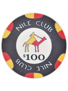 $100 Black - Nile Club Ceramic Poker Chips