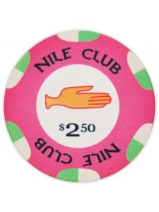 $2.50 Pink - Nile Club Ceramic Poker Chips