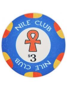 $3 Blue - Nile Club Ceramic Poker Chips