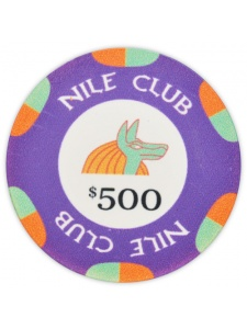 $500 Purple - Nile Club Ceramic Poker Chip