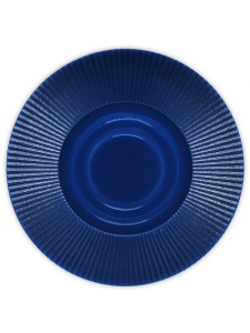 Dark Blue - Radial Interlocking Plastic Poker Chips