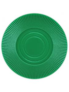 Green - Radial Interlocking Plastic Poker Chips