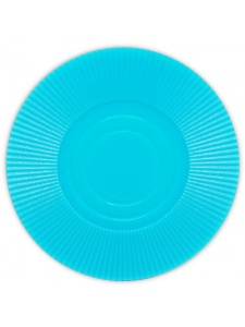 Blue - Radial Interlocking Plastic Poker Chips